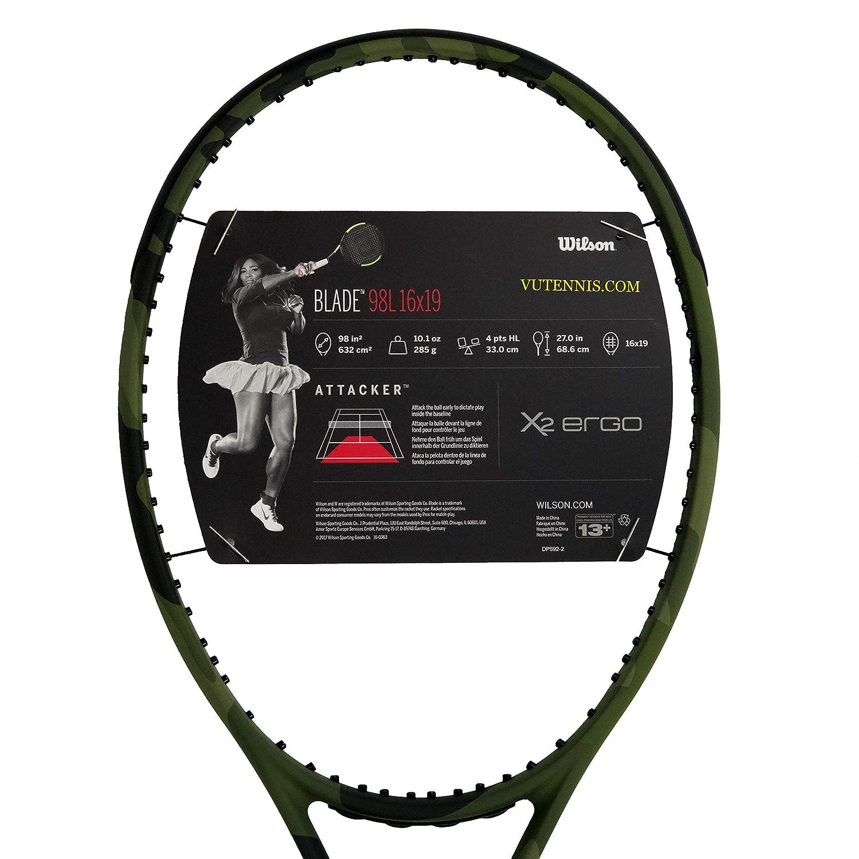Amazon.com : [VUTENNISCOM] Wilson Blade 98L Tennis Racquet ...