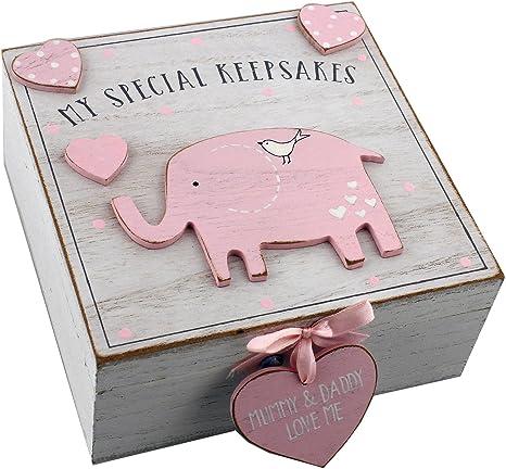 Caja de recuerdos de madera para niñas, estilo vintage: Amazon.es ...