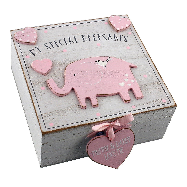Baby Girl Caja de recuerdo de recuerdos de madera estilo vintage ukgiftstoreonline 606993156979