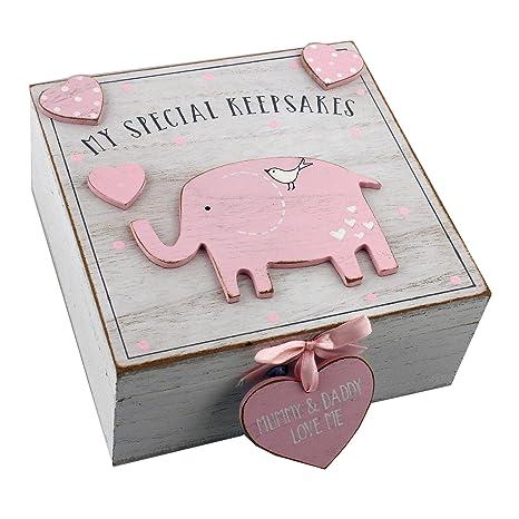 Caja de recuerdos de madera para niñas, estilo vintage