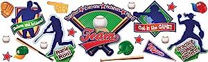 Eureka Classroom Supplies Baseball Fun Bulletin Board Set, 36 pcs