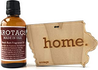 product image for Arotags Iowa Car Air Freshener & Cool Breeze Fragrance Oil Diffuser. Lasts 365+ Days. 100% Made in U.S.A.