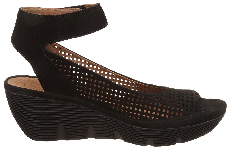 0b3c324d75b5 Clarks Sandals Clarene Prima Black Nubuck UK7 Black  Amazon.co.uk  Shoes    Bags