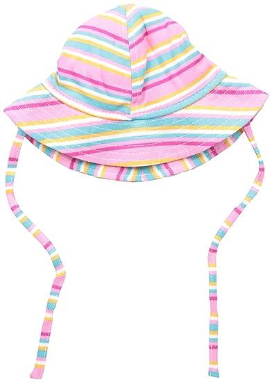 257987eab Amazon.com: Zutano Baby Girls' Hot Pink Multi Stripe Sunhat, Hot ...