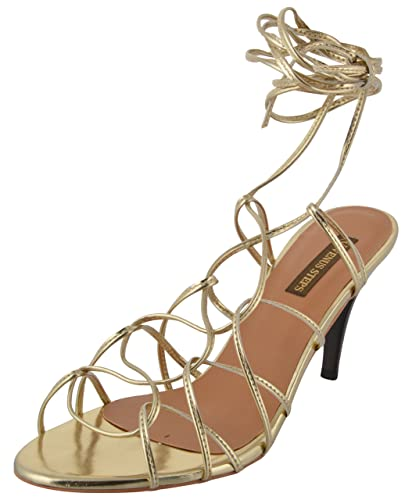 ebb5756faea VENUS STEPS Women's Gold Gladiator Sandals - (7 UK (40 EU) Months ...