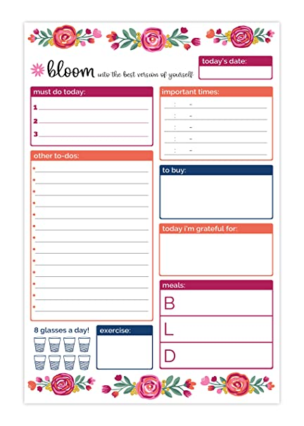 amazon com bloom daily planners 6 x 9 planning system to do pad