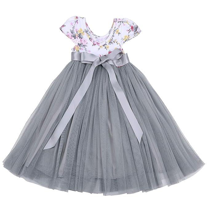 d80a98989 Amazon.com  Flofallzique Easter Girls Dress Baby Tutu Tulle Floral ...