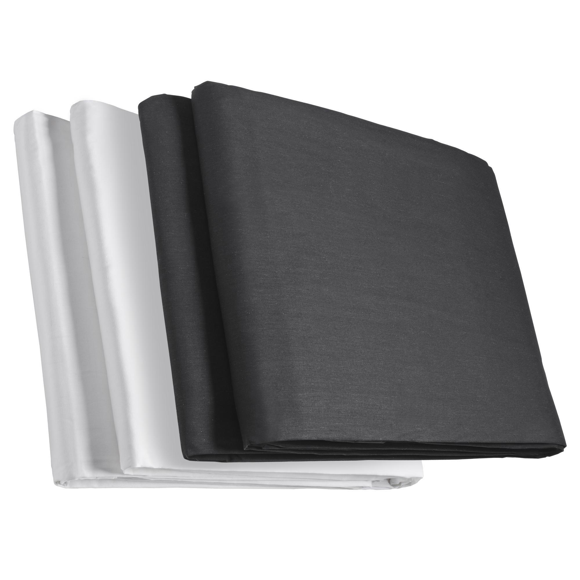 Kit walimex de deux fonds en tissu noir/Weiss