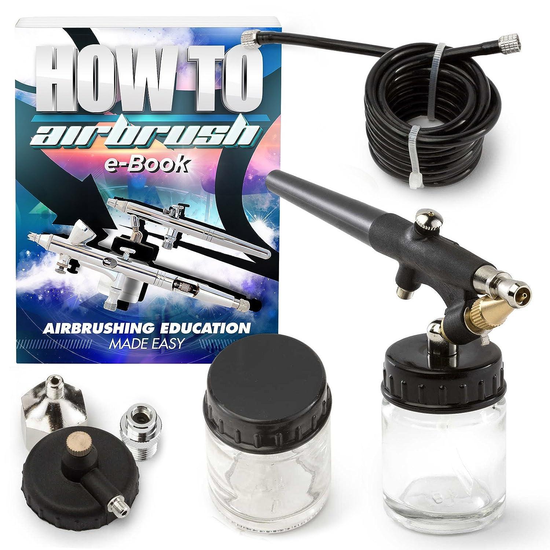 PointZero Single-action 22cc Siphon-feed Airbrush Set - 0.8mm Nozzle PointZero Airbrush 4336951426