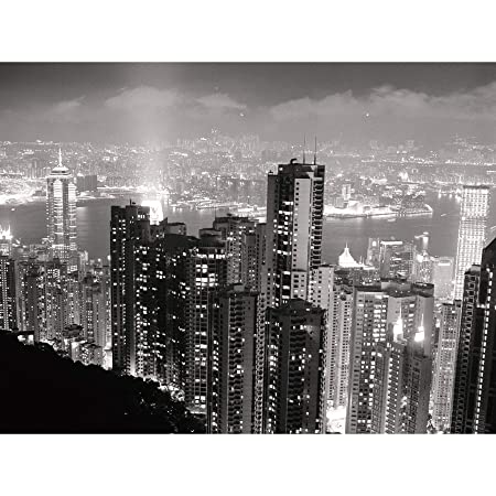 Black White Hong Kong City Skyscrapers Photo Extra Large XL ...