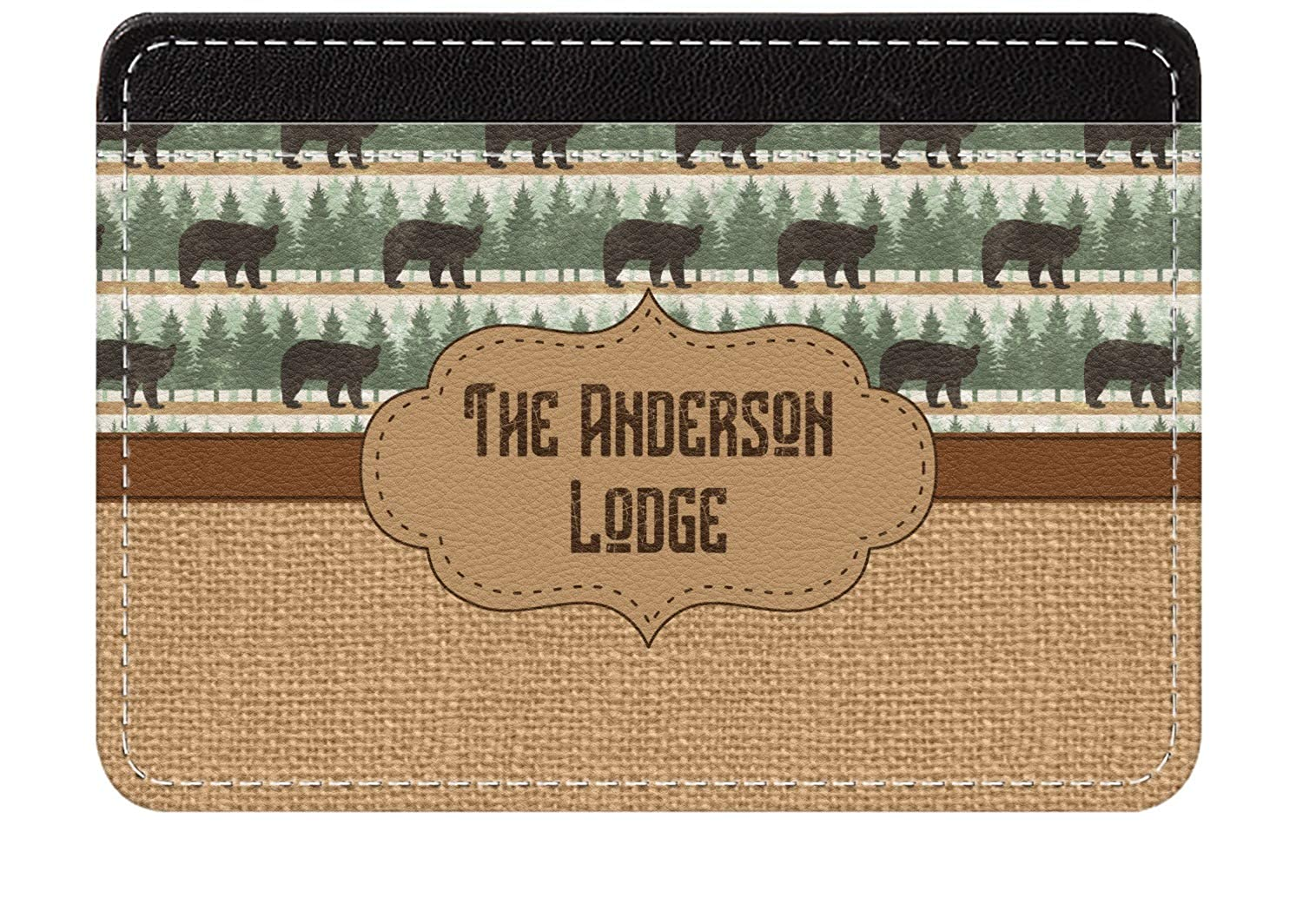 Cabin Genuine Leather Front Pocket Wallet Personalized