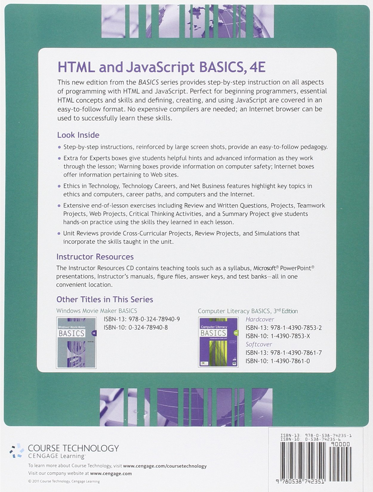 HTML and JavaScript BASICS by Brand: Cengage Learning