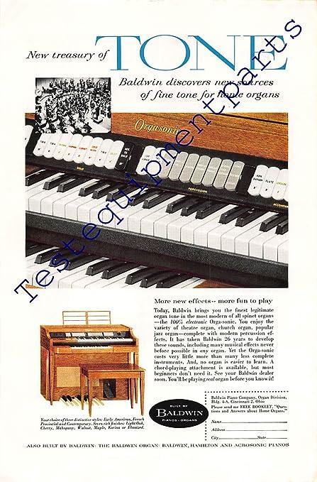 e17ef1f94 Amazon.com  Print Ad 1958 Baldwin Pianos and Organs  Posters   Prints