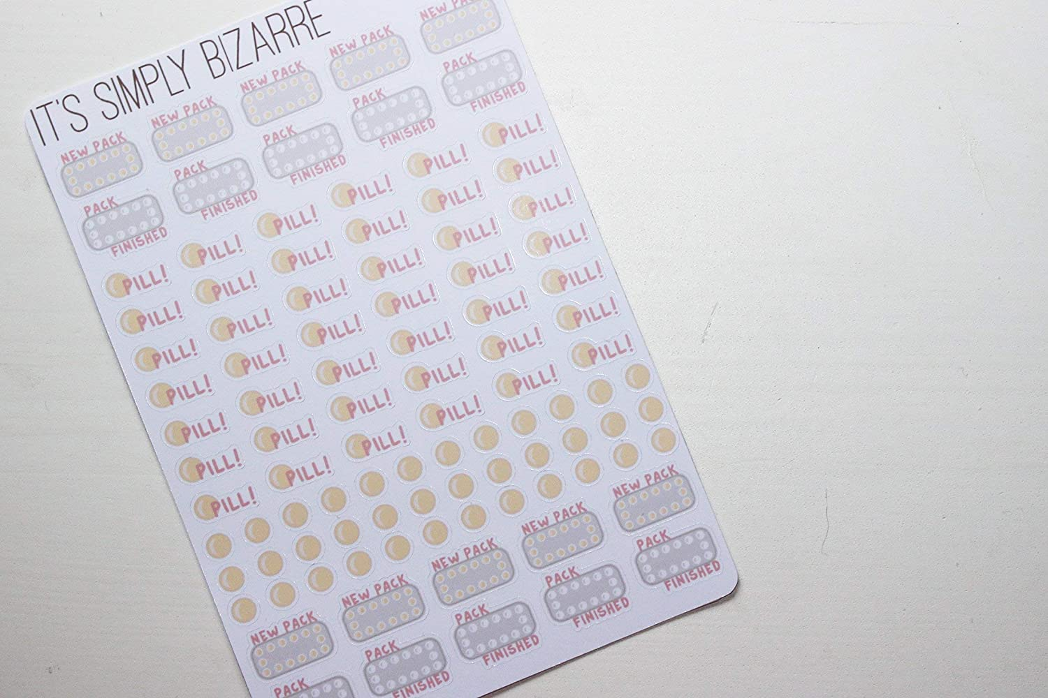 Contraceptive Pill Tracking Planner Sticker Sheet