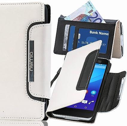 Sony Xperia Z1 Compact Hülle, numia Handyhülle Handy Schutzhülle [Book Style Handytasche mit Standfunktion und Kartenfach] Pu Leder Tasche für Sony