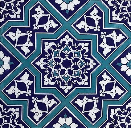 Amazon Turkish Blue Iznik Floral Pattern 60 X 60 Ceramic Tile Interesting Turkish Pattern