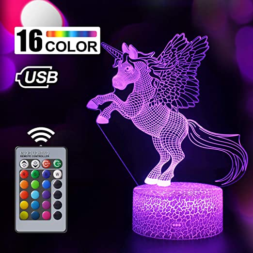 3D SpongeBob SquarePants Night Light 7 Color Change LED Desk Table Lamp Gift