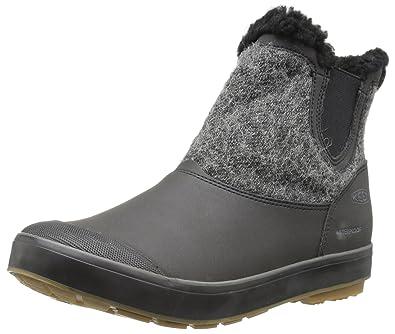 KEEN Womens Elsa Chelsea WPw Snow Boot Black Wool