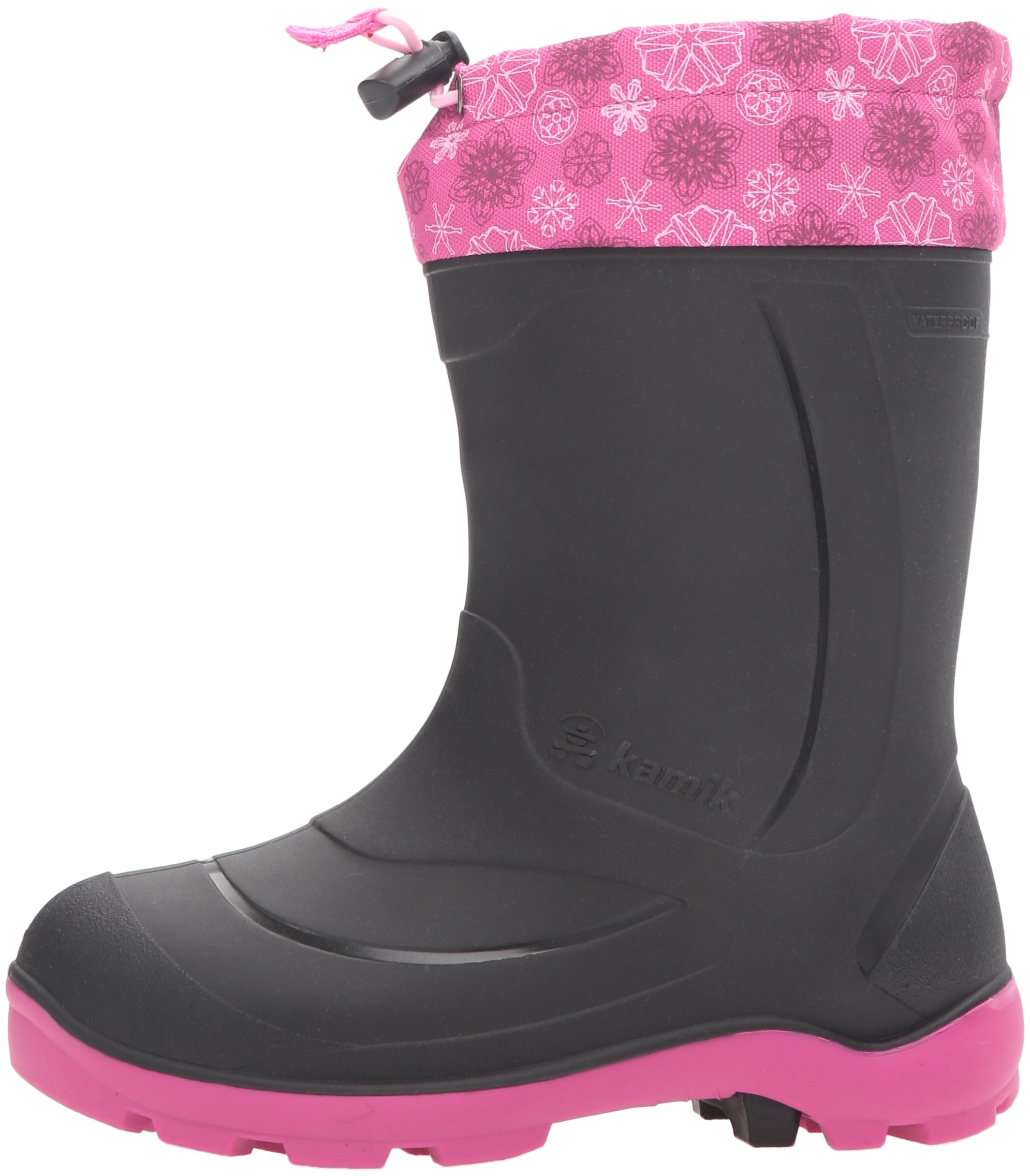 Kamik Kids' Snobuster2 Snow Boot Black/Magenta 9 M US Toddler by Kamik (Image #5)