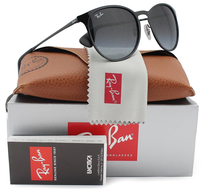 157dd1d21a Amazon.com  Ray-Ban RB3539 Sunglasses Shiny Black w Grey Gradient (002 8G)  3539 0028G 54mm Authentic  Clothing