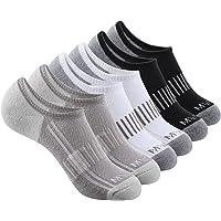 Mens No Show Running Socks 6 Pairs Athletic Low Cut Socks, Non Slip Silicon Inside Cushion Sport Socks