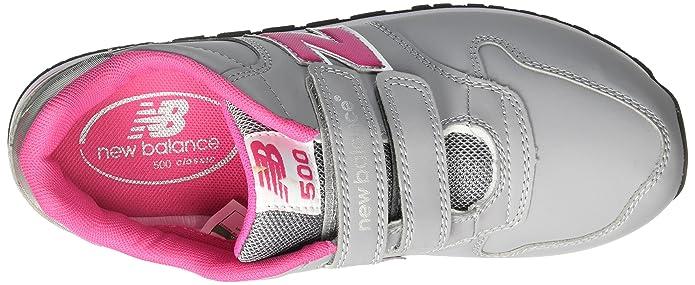 New Balance NBKV500BAP, Chaussures Premiers Pas pour Bébé (Garçon) - Gris - Grey/Yellow, 23.5 EU