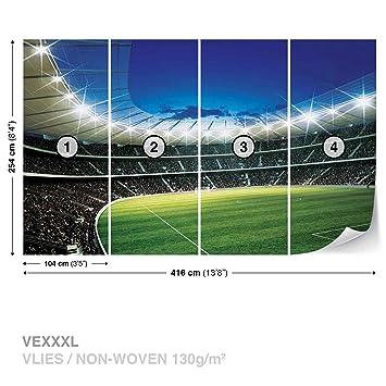 Forwall Vlies Fototapete Tapete Vliestapete Dekoshop Fussball Stadion Kind Ad323vexxxl 416cm X 254cm Photo Wallpaper Mural