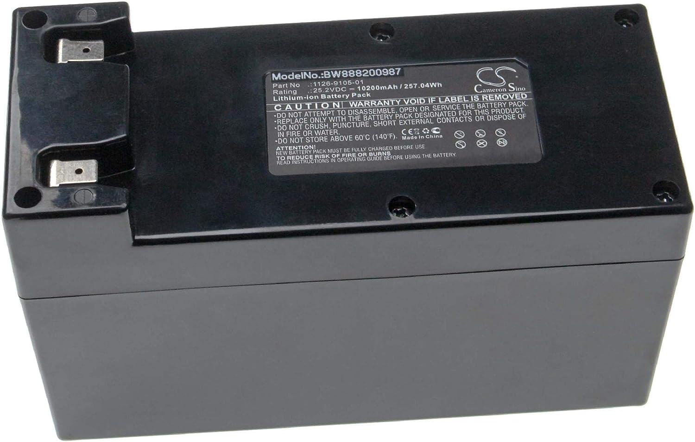 vhbw batería Compatible con Wiper Runner L-XH, Runner L-XK, Runner X, Runner X-C2, Runner Xe, Runner Xk Robot cortacésped (10200mAh, 25.2V, Li-Ion)