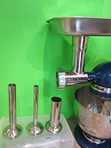 THE BEST Smokehouse Chef Stainless Steel meat grinding attachment for Kitchenaid mixers