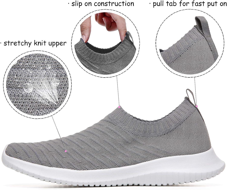 36 EU-43 EU MAIITRIP Chaussettes /élastiques Confortables pour Femmes Slip on Walking Trainer Chaussures de Taille l/ég/ère et antid/érapante