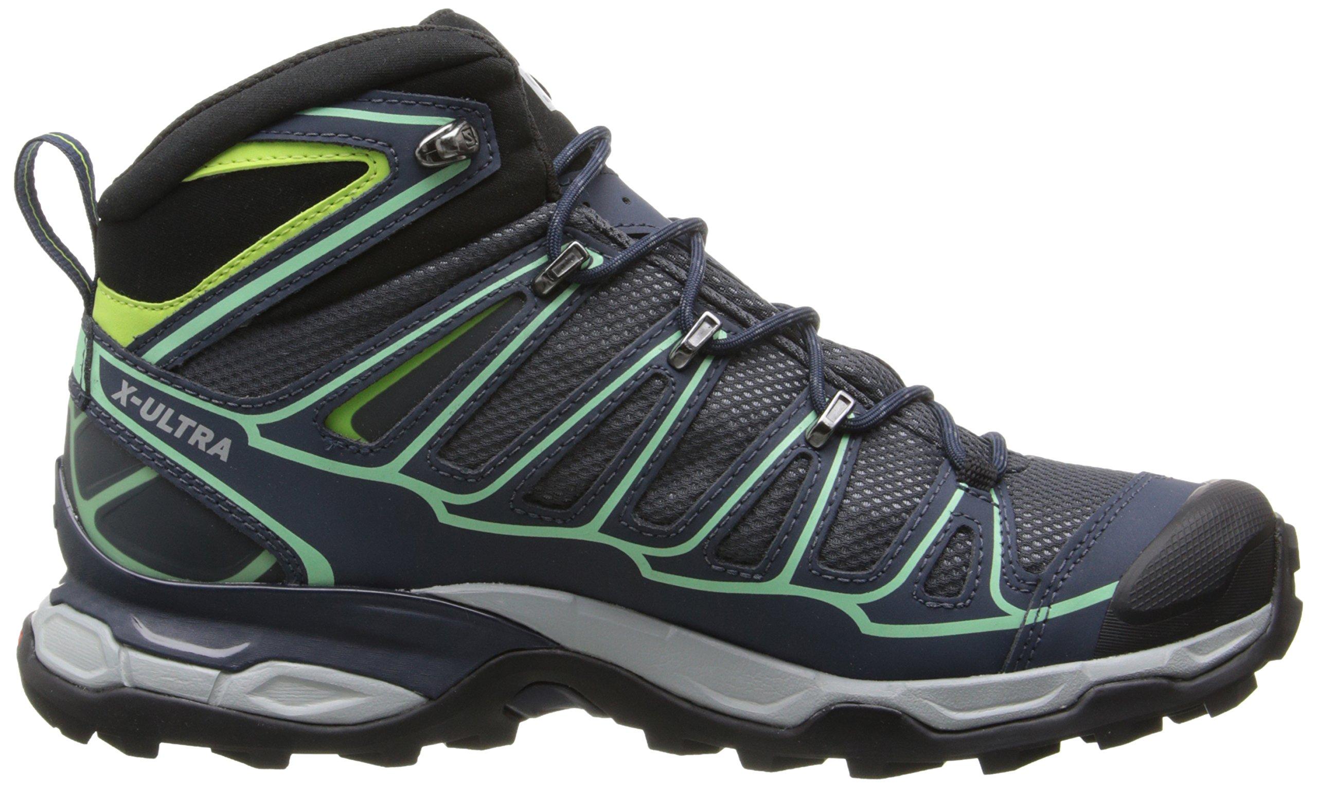 Salomon Women's X Ultra Mid 2 GTX Hiking Shoe, Grey Denim/Deep Blue/Lucite Green, 9 M US by Salomon (Image #7)