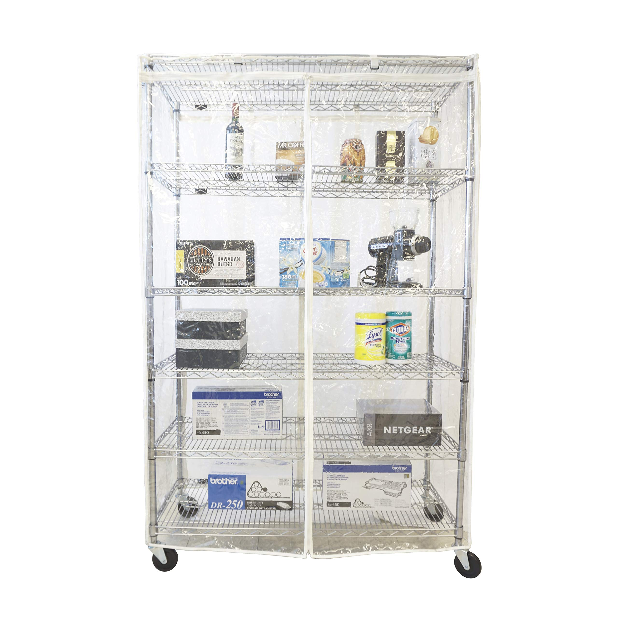 Formosa Covers Storage Shelving Unit Cover All See Through PVC, fits Racks 60'' Wx24 Dx72 H All Clear PVC (Cover only) by Formosa Covers