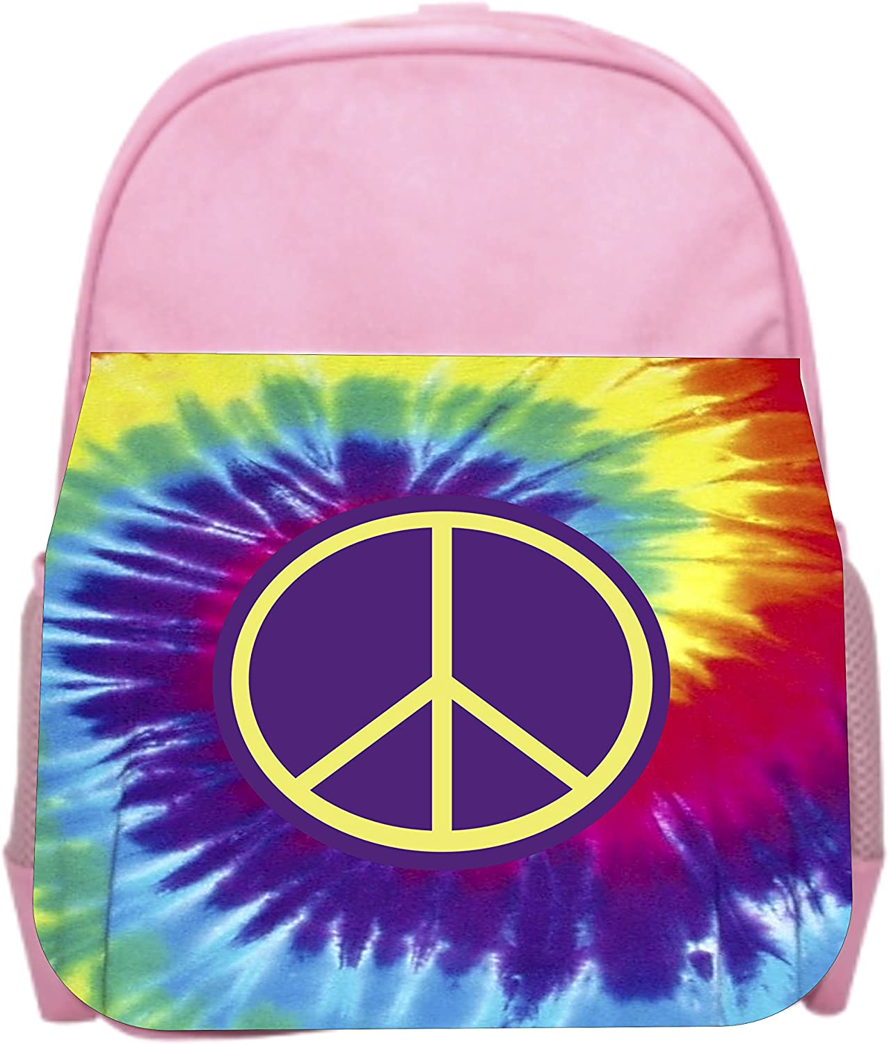 Peace Tie Dye Pink Girls Preschool Toddler Backpack /& Lunch Box Set