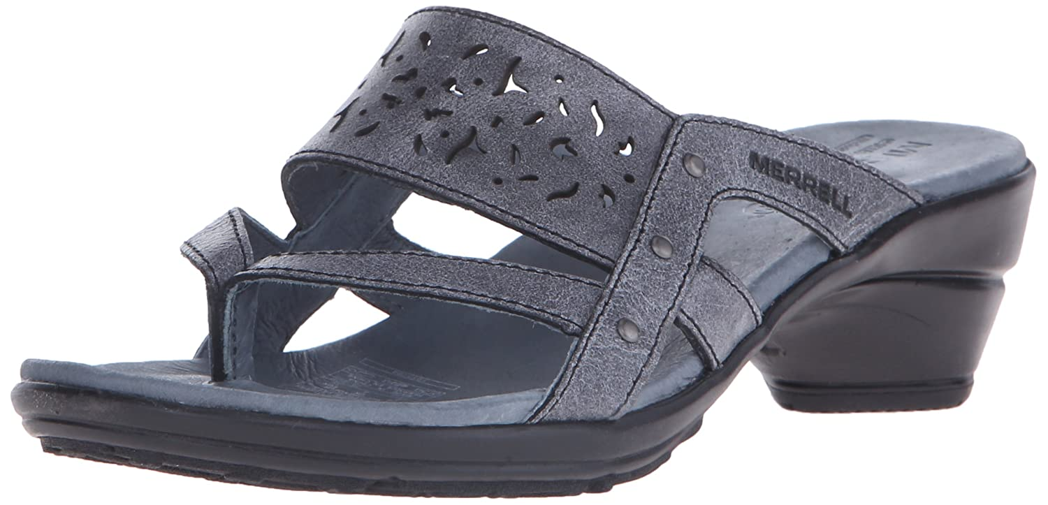 cb43a485aab7 Merrell Women s Veranda Eve Ribbon Heeled Sandal Black 11 B(M) US  Buy  Online at Low Prices in India - Amazon.in