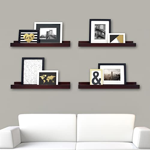 kieragrace Modern Floating-Shelves, Set of 4, Espresso