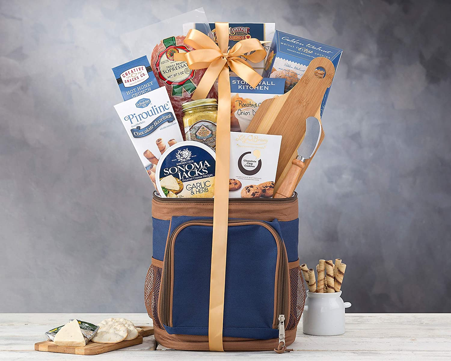 c9f74542bbbe Hole in One Golf Gift Basket with Golf Cooler by Wine Country Gift Baskets  Loaded With...