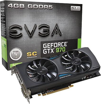 EVGA GeForce GTX 970 4GB SC GAMING ACX 2.0 (04G-P4-2974-KR)