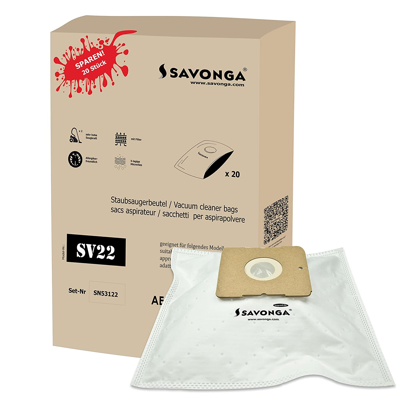 savonga SV22 10/20 bolsas de aspiradora para aspiradoras ...