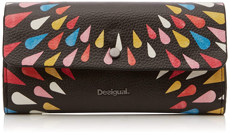 Desigual - Mone_tears Splatter Reversible, Carteras Mujer, Negro, 3x11x20.6 cm (B x H T)