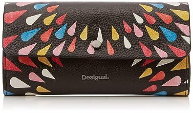 Desigual - Mone_tears Splatter Reversible, Carteras Mujer, Negro, 3x11x20.6 cm (