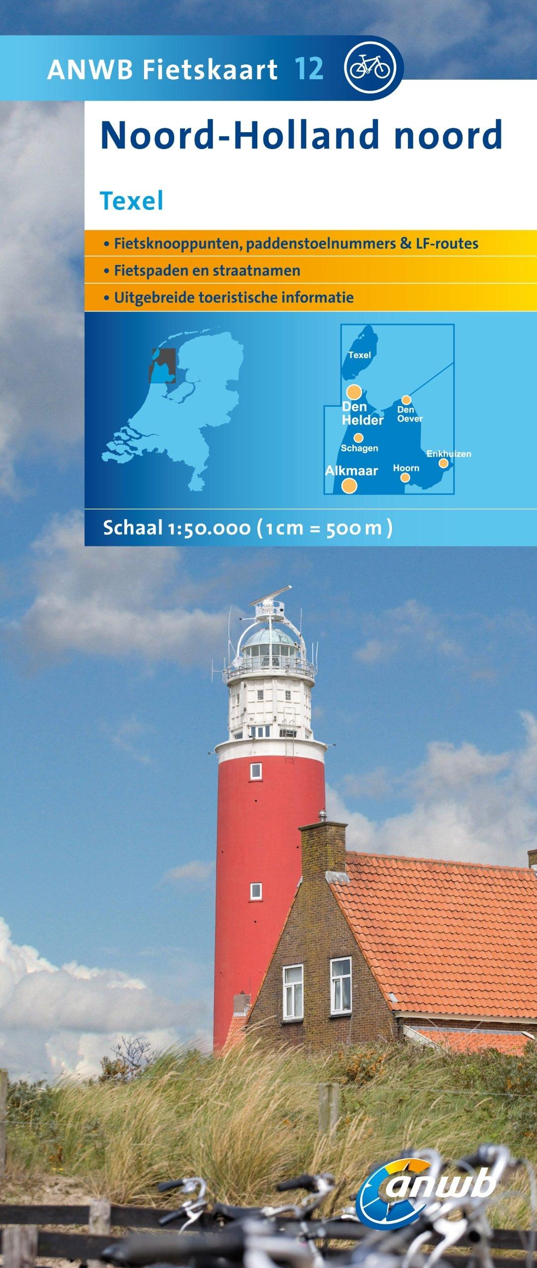 ANWB Fietskaart Noord Holland noord (ANWB fietskaart (12))