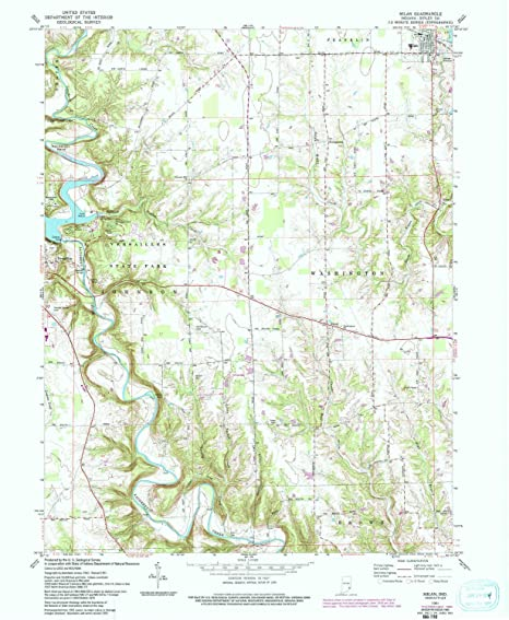 Milan Indiana Map.Amazon Com Yellowmaps Milan In Topo Map 1 24000 Scale 7 5 X 7 5