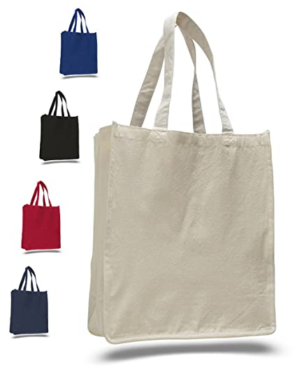 Thick Material Heavy Canvas Reusable Grocery Blank Tote Bags - Full Side  and Bottom e4899e50fbbe