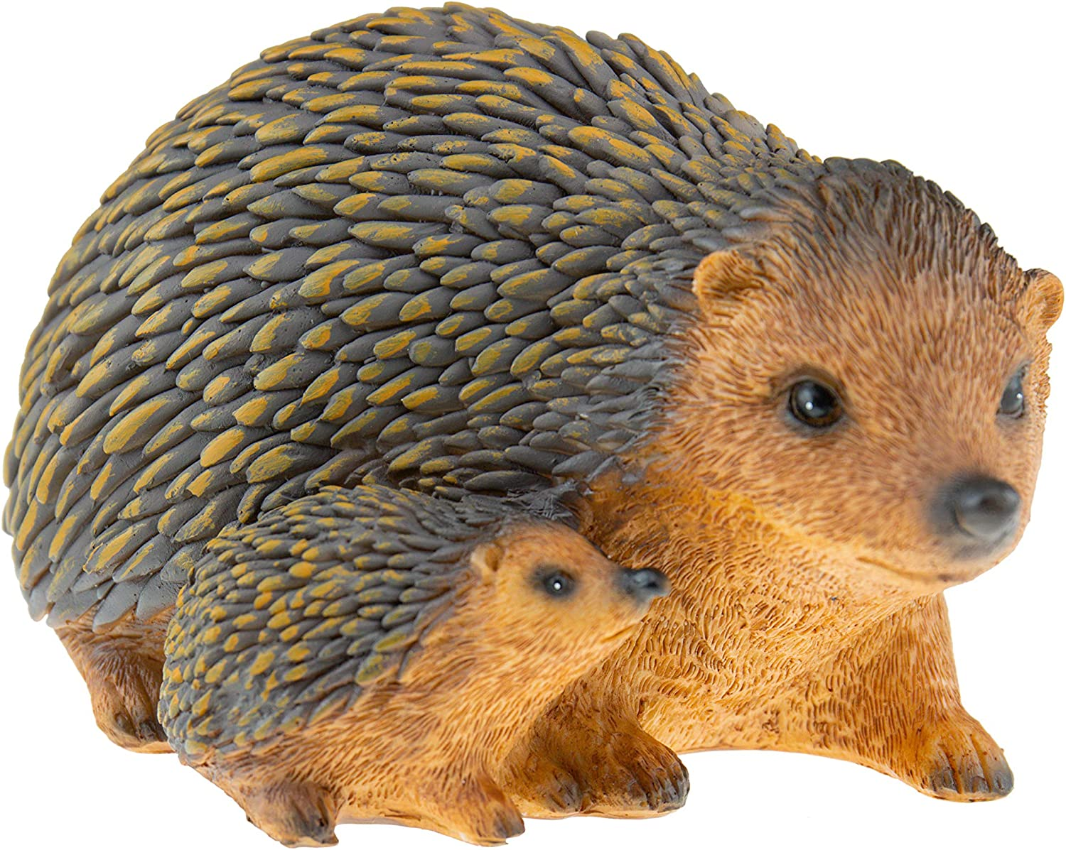 Cute Hedgehog Family Resin Garden Statue Decoration | Outdoor Lawn Yard Polyresin Animal Figurine Sculpture Ornament Décor