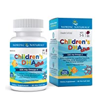 Nordic Naturals Children's DHA Xtra, Berry Punch - 90 Mini Chewable Soft Gels - 636 mg Total Omega-3s with EPA & DHA - Cognitive & Immune Function, Learning, Social Development - Non-GMO - 30 Servings