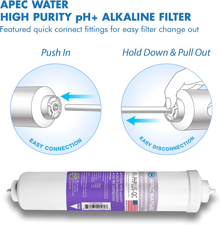 Apec Water Systems Filter-Set-Esph hoch Capacity Replacement Filter Satz für Essence Series Alkaline Reverse Osmosis Water Filter System Stage 1-3&6