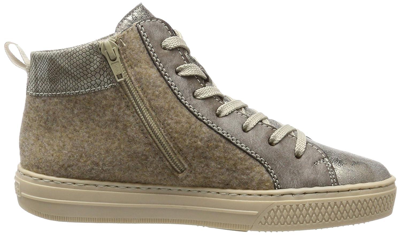 Rieker L5938, Sneakers Hautes Femme, Gris (Antique/Cigar/Wood/Stone/Altsilber), 42 EU