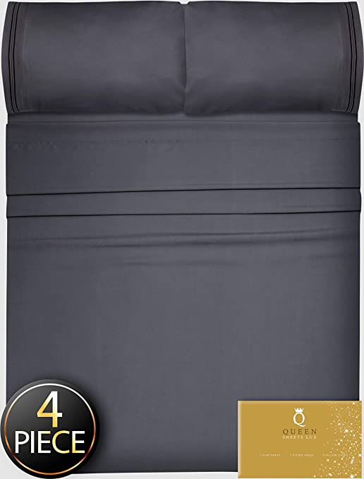 Amazon Com Twin Xl Sheets 4pcs Xl Twin Sheet Set Twin Xl Fitted