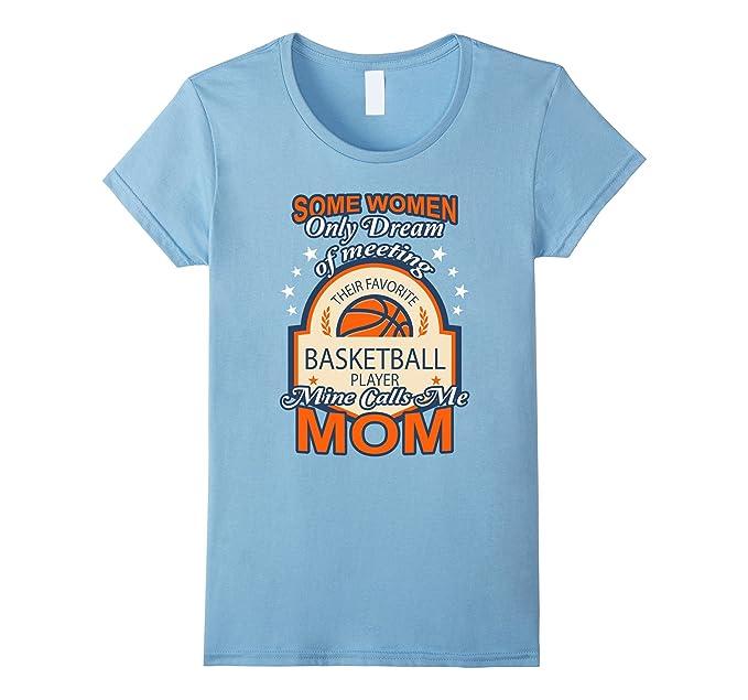 Las mujeres de la mamá de baloncesto camiseta de regalo para las madres orgullo deportes amante camiseta Awesome baloncesto mamá camiseta azul celeste ...