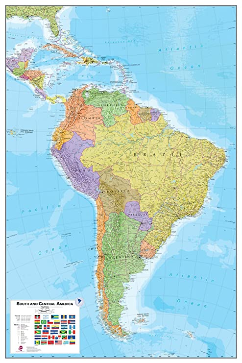 South America Dry Erase Map
